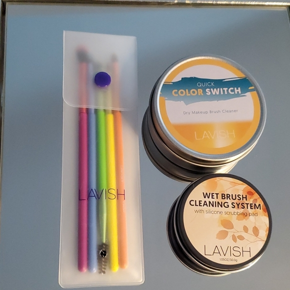 LAVISH - Brush Set - 2 Cans Brush Cleaner
